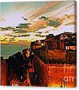Sunset In Capoliveri - Toscany Canvas Print