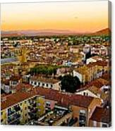 Sunset In Cavaillon Canvas Print