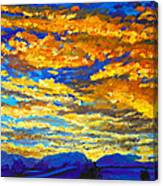 Sunset In Colorado Canvas Print