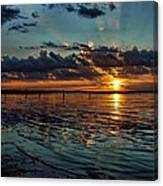 Sunset In Cyan Canvas Print