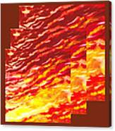 Sunset In Desert Abstract Collage  Canvas Print