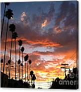 Sunset In Hollywood Canvas Print