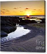 Sunset In Iceland Canvas Print