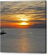 Sunset In Koper Canvas Print