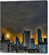 Sunset In Manhattan's Lower East Side Canvas Print