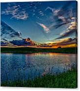 Sunset In Montana Canvas Print