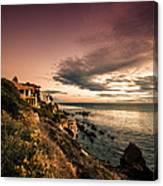 Sunset In Newport Beach Canvas Print