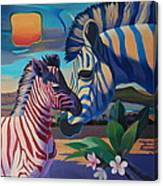 Sunset In Ngoro Ngoro Canvas Print