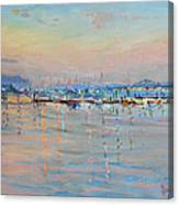 Sunset In Piermont Harbor Ny Canvas Print
