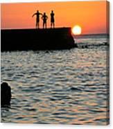 Sunset In Porto Da Barra Canvas Print