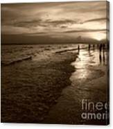 Sunset In Sepia Canvas Print