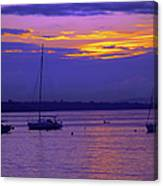 Sunset In Skerries Harbor Canvas Print
