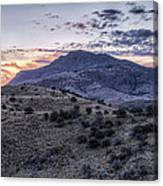Sunset In The Davis Mountains Canvas Print