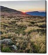 Sunset In The Hills Canvas Print