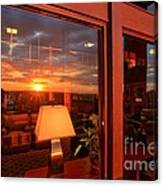 Sunset In The Lobby Canvas Print