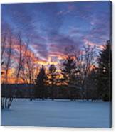 Sunset In The Park Canvas Print