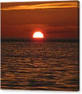Sunset In The Sea Canvas Print