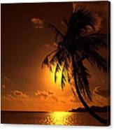 Sunset In The South Pacific Canvas Print