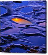 Sunset In Tide Pools Canvas Print