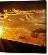Sunset In Vernon County Canvas Print