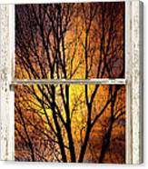 Sunset Into The Night Window View 3 Canvas Print