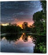 Sunset Lake Canvas Print