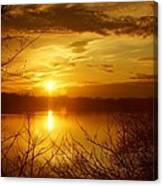 Sunset Lake Galena Canvas Print