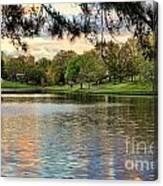 sunset lake I Canvas Print