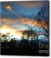 Sunset - Late Fall Canvas Print