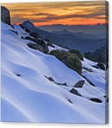 Sunset Light On The Snow Canvas Print