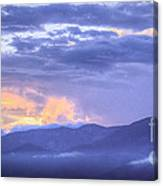 Sunset Low Clouds Canvas Print