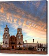 Sunset Majesty Mission San Xavier Del Bac Canvas Print