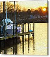 Sunset Marina Canvas Print