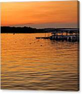 Sunset Marina Canvas Print