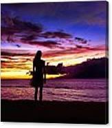 Sunset Maui Style Canvas Print