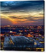 Sunset Metro Lights And Splendor Canvas Print