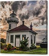 Sunset Mukilteo Lighthouse Canvas Print