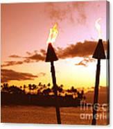 Sunset Napili Maui Hawaii Canvas Print