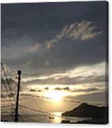 Sunset Near Fort Charlotte Canvas Print