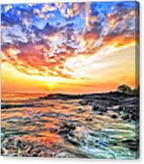 Sunset Near Old Kona Airport Canvas Print