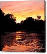 Sunset Near Rosemere - Qc Canvas Print