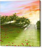 Sunset Of Spring Canvas Print