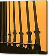 Sunset On A Bridge Canvas Print