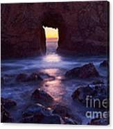Sunset On Arch Rock In Pfeiffer Beach Big Sur In California. Canvas Print