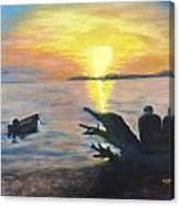 Sunset On Birch Bay Canvas Print