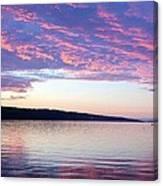 Sunset On Cayuga Lake Cornell Sailing Center Ithaca New York Canvas Print
