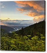 Sunset On Clingman's Dome Canvas Print