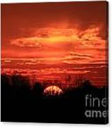 Sunset On Fire  Canvas Print