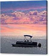 Sunset On Grand Beach Canvas Print