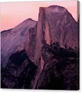 Sunset On Half Dome As Seen Canvas Print